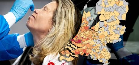Delen Achterhoek en Land van Maas en Waal 'coronavrij', lichte stijging besmettingen in Ede, Nijmegen en Arnhem
