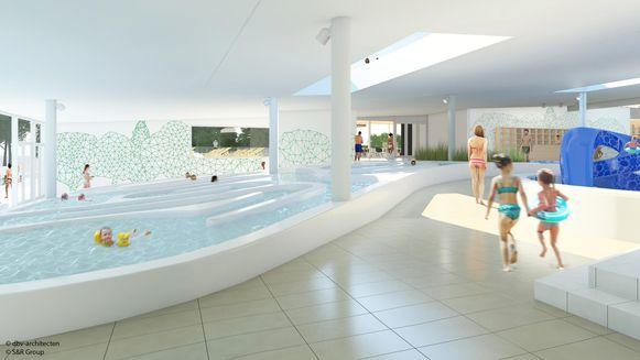 Ook het nieuwe 'Bloesembad' komt in het nieuwe sportcomplex.