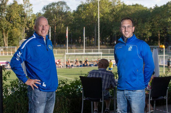 Ron Steenbergen (links) heeft met KV Wageningen andere doelstellingen dan Wouter van Steenbergen bij SKF.
