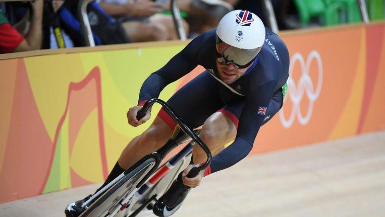 Mark Cavendish op de baan Beeld anp