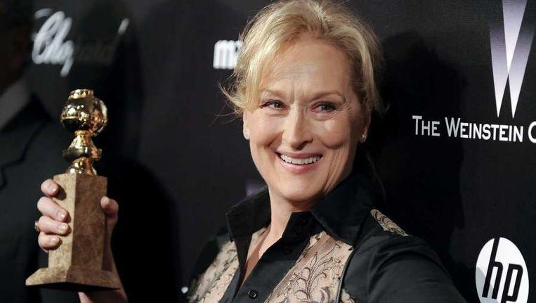 Meryl Streep en haar Golden Globe Beeld null