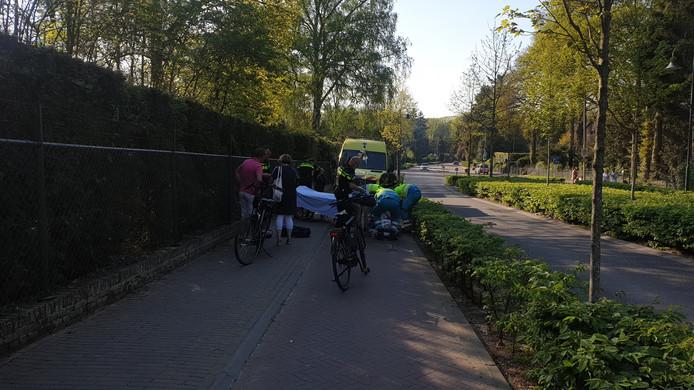 Hulpverlening na het ongeval in Berg en Dal.