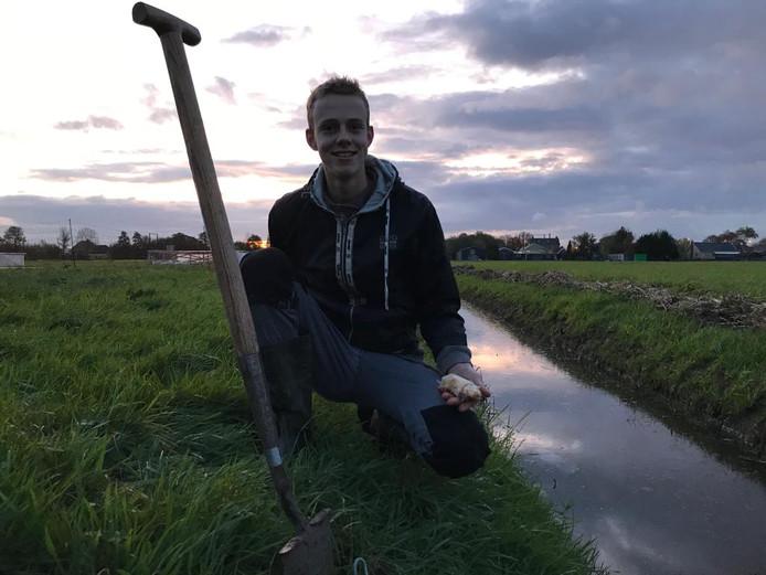 Tjerk Dijkshoorn uit Maasland heeft wéér een witte mol gevangen.