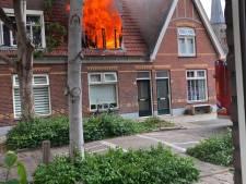Opeens staat 'fout pand' Noorderstraat in Almelo in lichterlaaie