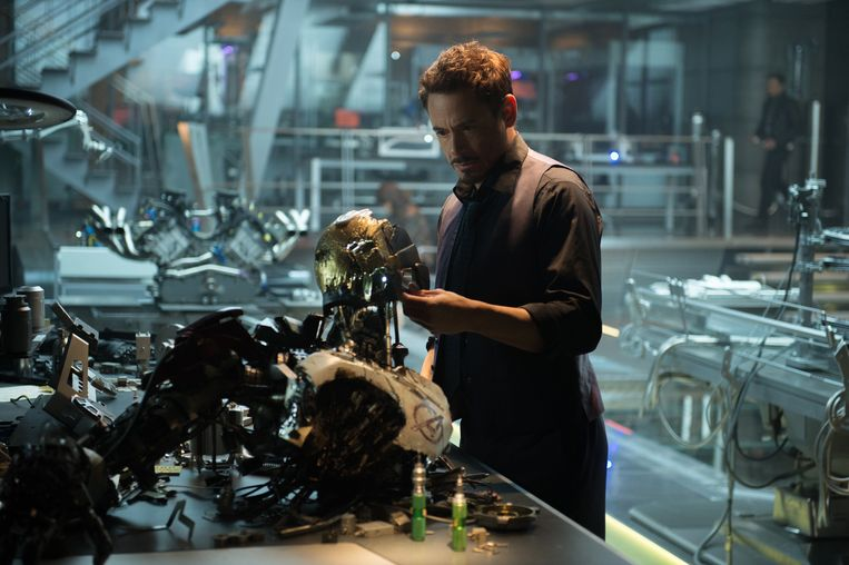 Robert Downey Jr. in Avengers: Age of Ultron. Beeld .