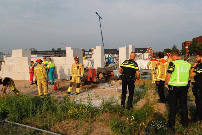 Het ongeval vond plaats op een bouwplaats aan de Vioolstraat in Eindhoven.