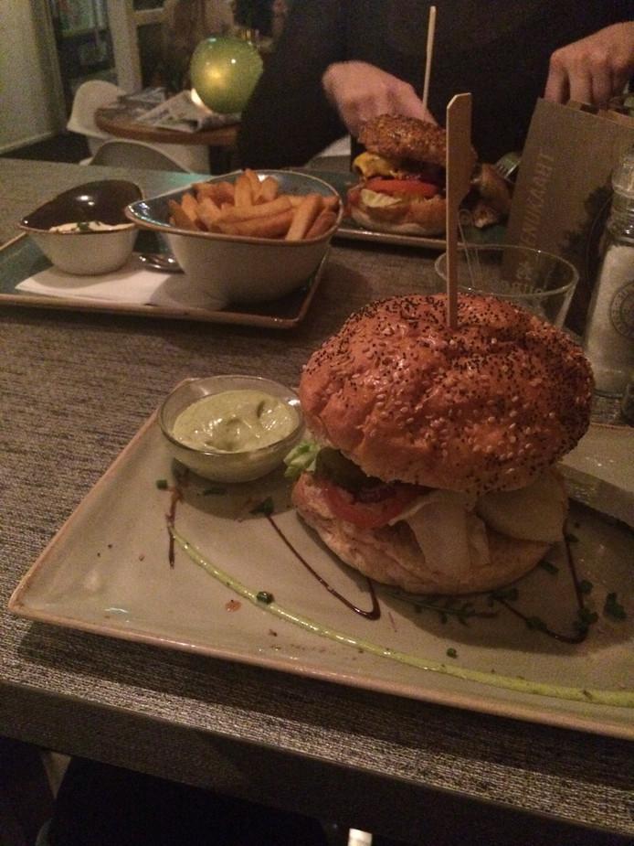 Een hamburger van ingeburgerd