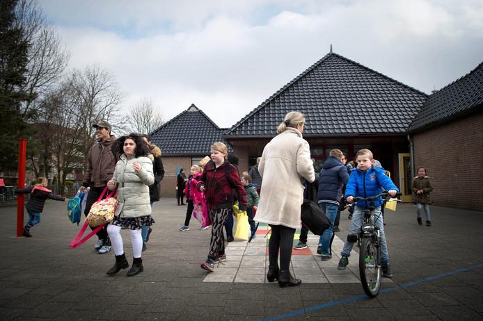 Beeld van basisschool 't Palet in Wijchen, inmiddels onderdeel van fusieschool  Het Zuiderpad.