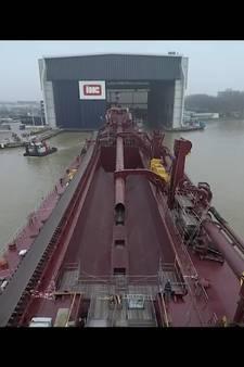 Bekijk hier spectaculaire timelaps opbouw nieuwste IHC-schip