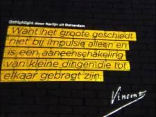 Verlicht briefcitaat Van Gogh in Twello