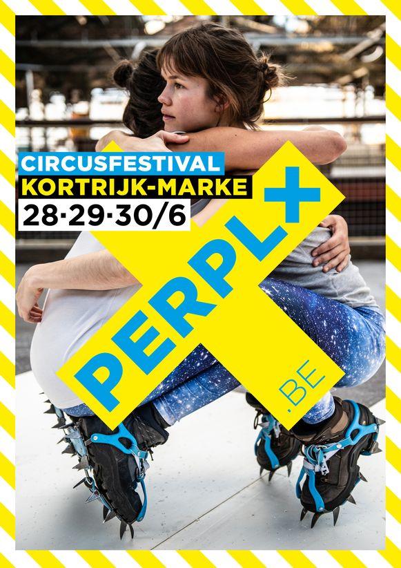 Affiche van het circusfestival PERPLX