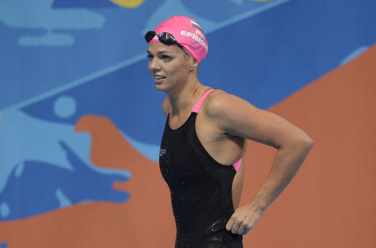 Zwemster Joelia Efimova Beeld AFP