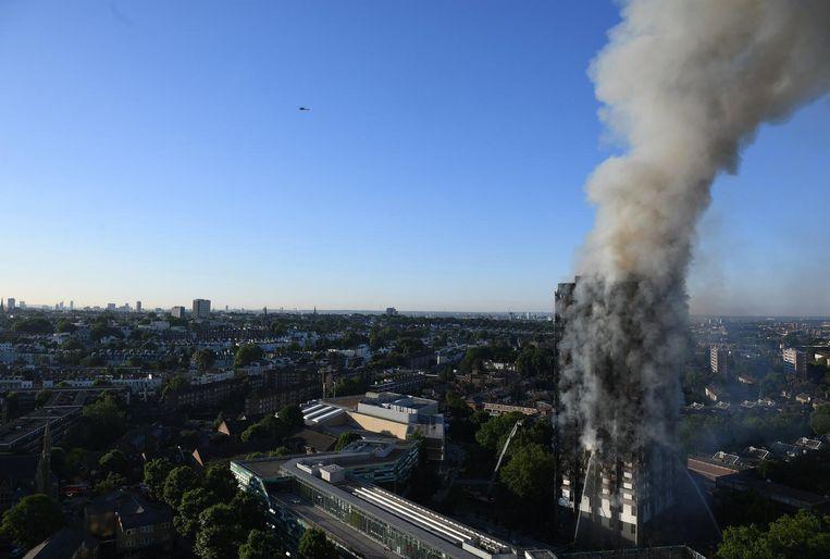 De Grenfell Tower kostte het leven van 79 mensen. Beeld anp