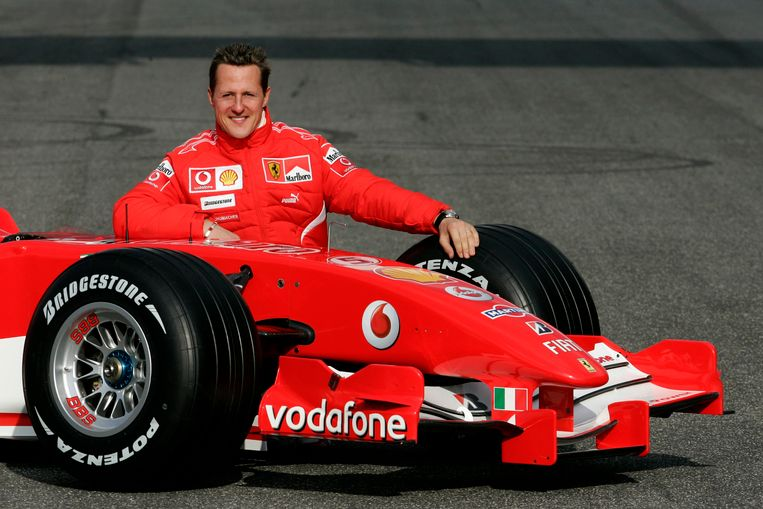 Schumacher als Ferarri-coureur in 2006. Beeld reuters