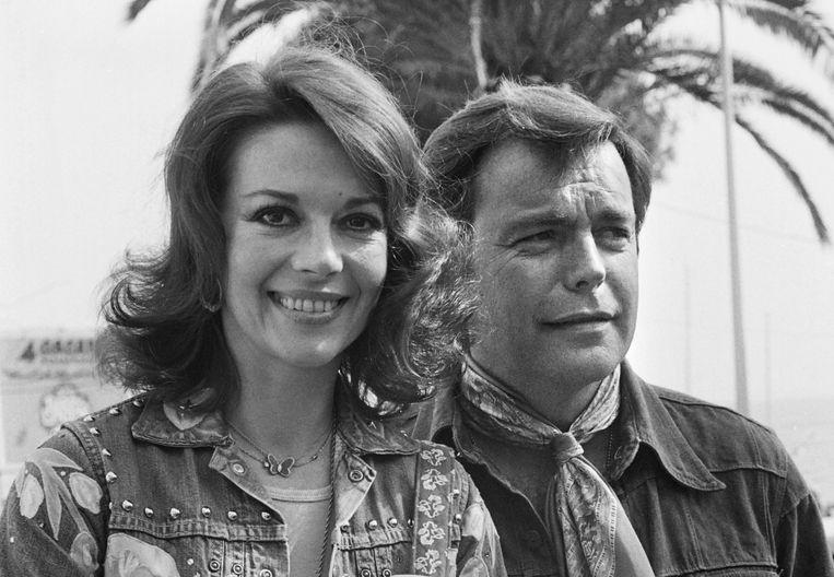 Natalie Wood en Robert Wagner in 1976 in Cannes.