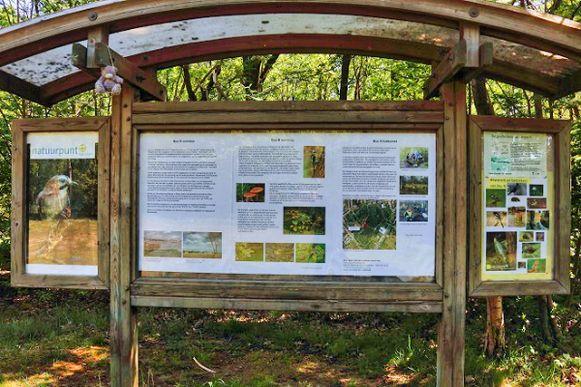 Het vernieuwde infobord in Bos N.