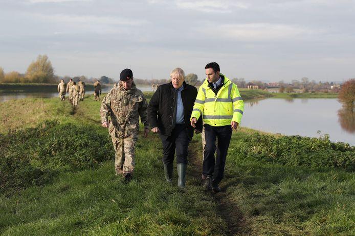 Boris Johnson op bezoek in Yorkshire.