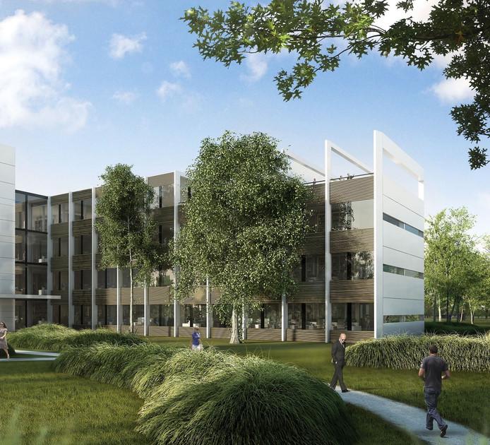 Het Science Park op Ekkersrijt moet een veel groenere aanblik krijgen.
