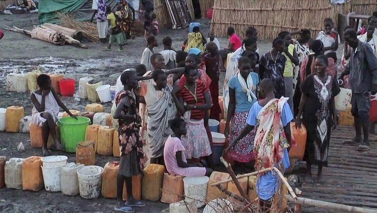 Er dreigt hongersnood. Ongeveer 5 miljoen van de 8 miljoen inwoners hebben al humanitaire hulp nodig, aldus Hoge Commissaris voor de Mensenrechten van de VN, Navi Pillay. Beeld afp