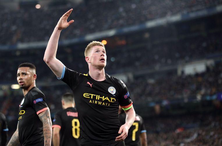 Kevin De Bruyne loodste City voorbij Real in de heenmatch. De terugwedstrijd moet nog gespeeld worden, in Manchester.