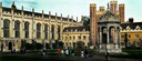 Archieffoto van het Trinity College in Cambridge.