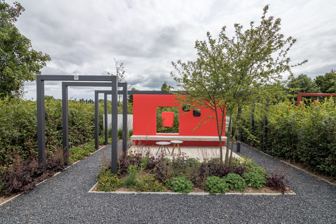 De inspiratietuin van Daniëlle Hulsebos uit Vught en Manon Nederpel uit Rosmalen.