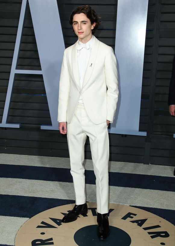 Timothée Chalamet op de Vanity Fair Oscar Party.
