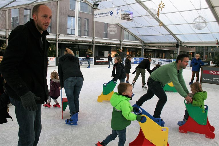 De schaatsbaan in Kapellen vorig jaar.