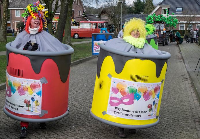 Carnavalsoptocht in Heijen.