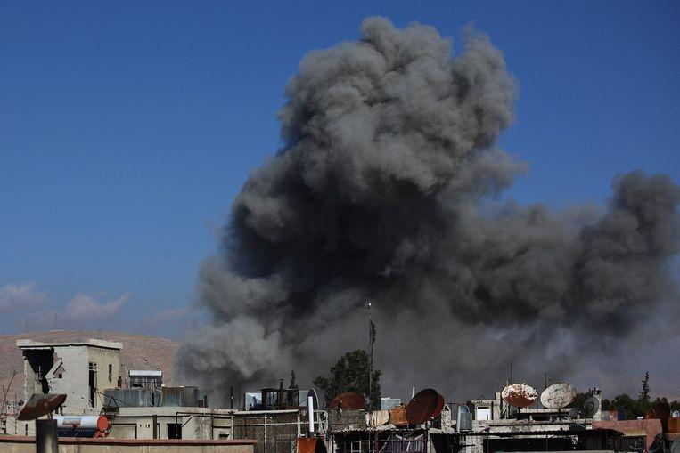 Een bombardement in Syrië. Beeld anp