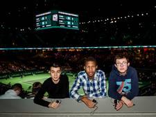 Blindentribune bij tennistoernooi Rotterdam