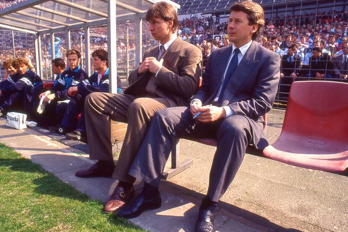 Pim Verbeek (links) tijdens het zwarte seizoen van Feyenoord.