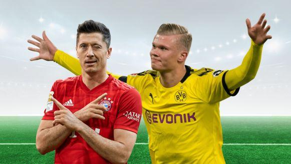 Lewandowski en Haaland.