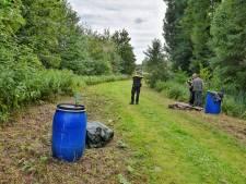 Vier vaten drugsafval gedumpt in Tilburg