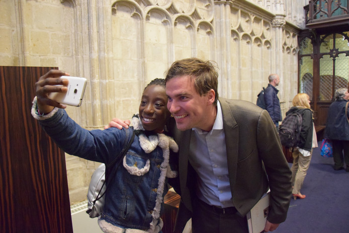 Selfie met de burgemeester op Mariage Parfait.