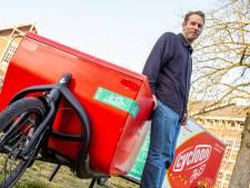 Fitte fietskoeriers razen nu ook door Ede: 'We verplaatsen 75 pakketten in één keer'