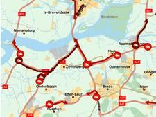 Fileleed tijdens avondspits in West-Brabant door ongelukken