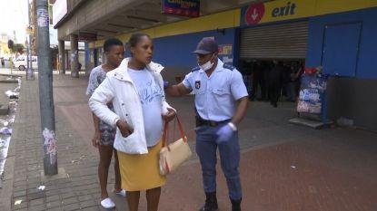 Zuid-Afrikaanse politie schiet met rubberkogels op bevolking