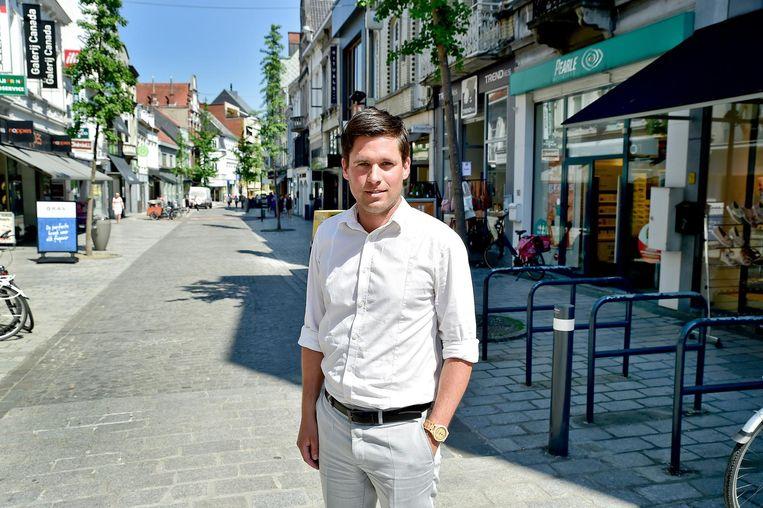 Unizo-voorzitter Bernhard De Muynck in de Ooststraat.