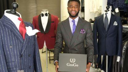 Student (24) ontwerpt designmaatpakken voor eigen merk 'Grogo'