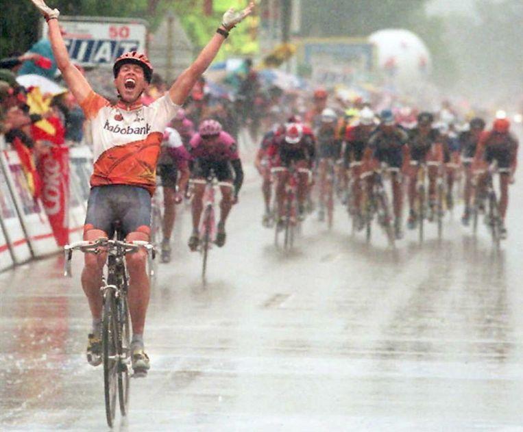 Michael Boogerd wint een Touretappe in 1996. Beeld