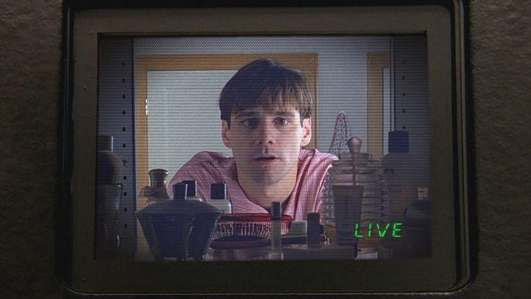Jim Carrey in The Truman Show van Peter Weir. Beeld