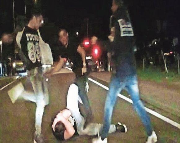 De beelden van de vechtpartij gingen destijds viraal.