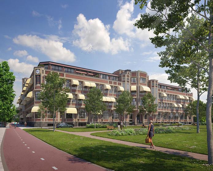 Artist impression van de transformatie van het Berlagehuis in Den Haag.