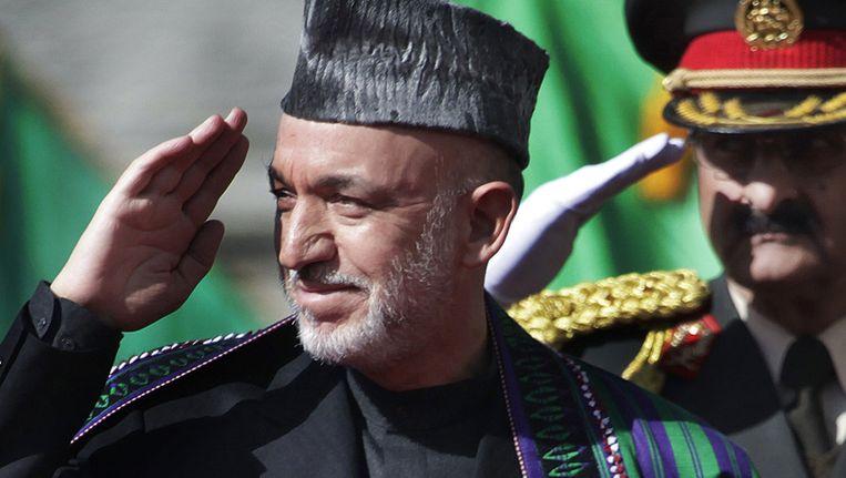 Hamid Karzai Beeld null