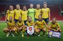 De elftalfoto van Arsenal voor de uitwedstrijd bij Slavia Praag, die met 2-5 werd gewonnen.