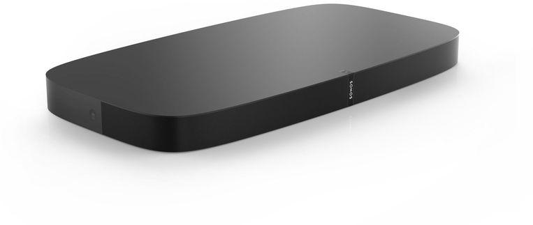 De Sonos PlayBase: voetsteun en soundbar tegelijk.