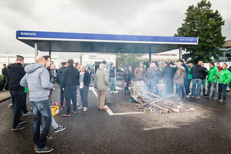 In september vorig jaar legden de arbeiders bij Volvo het werk neer bij een grote staking.