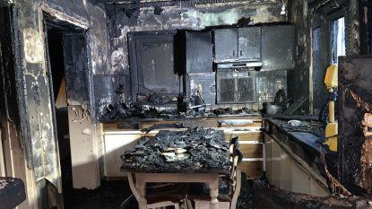 Hoogbejaard koppel ontsnapt op het nippertje aan keukenbrand