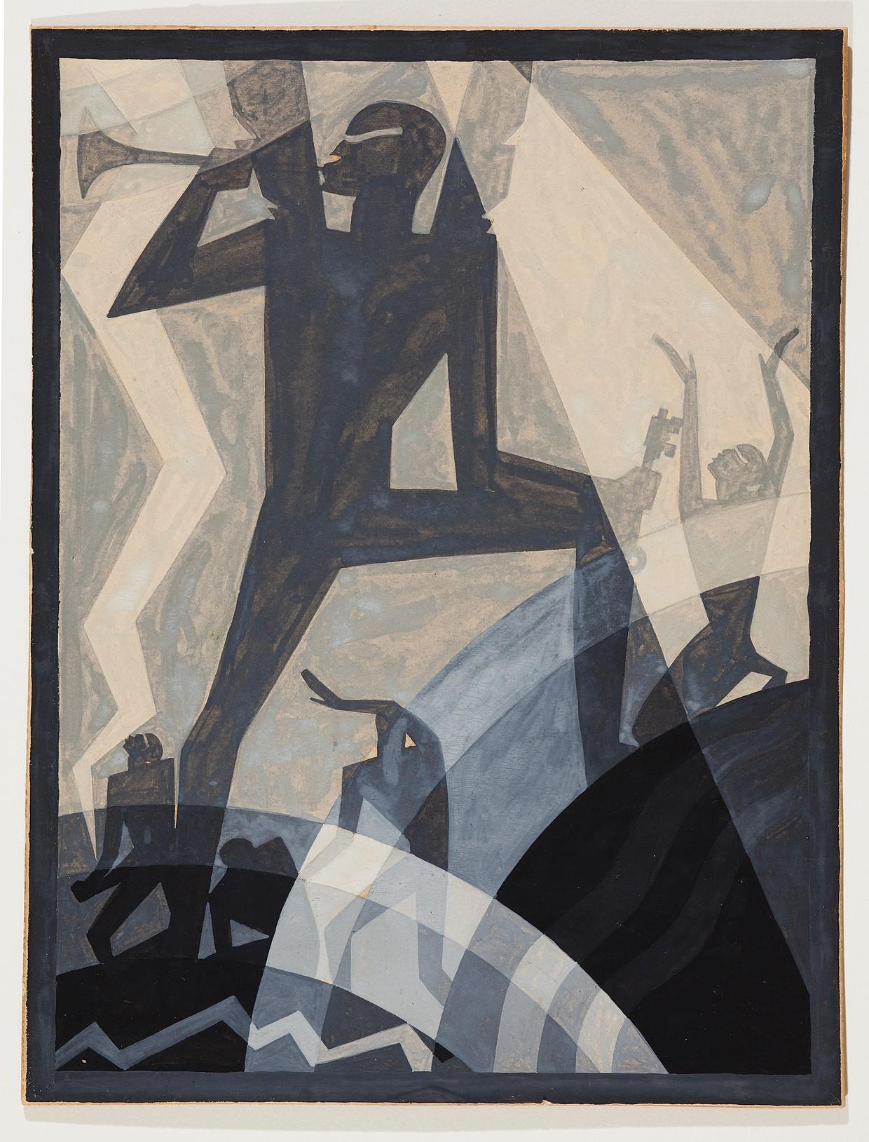 Aaron Douglas, The Judgement Day, 1927.  Beeld SCAD Museum of Art